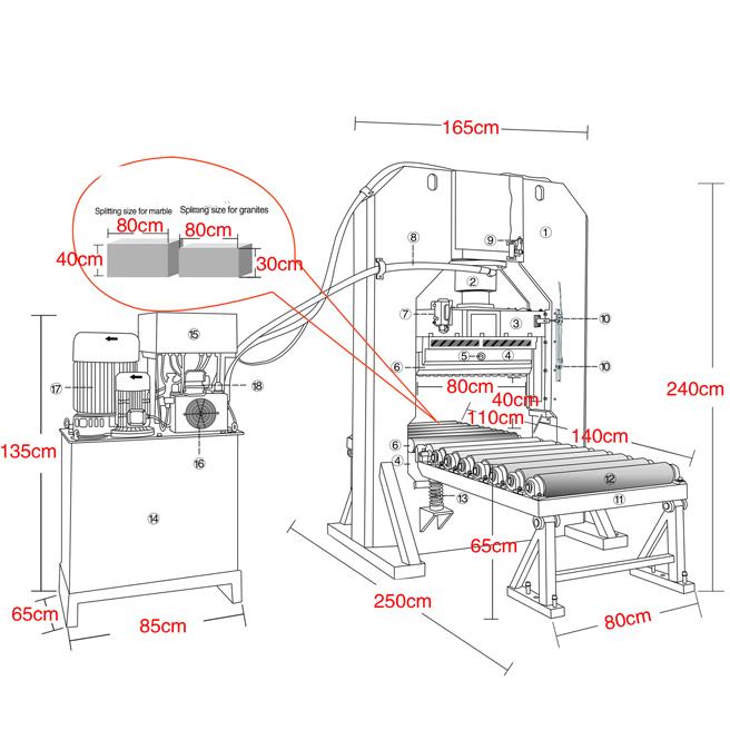 MT-S200 splitting machine